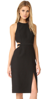 Halston Round Neck Cutout Dress