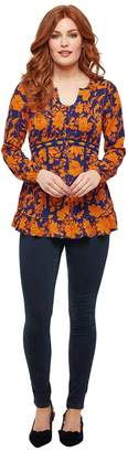 Joe Browns Round-Neck Floral Blouse