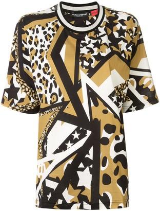 Dolce & Gabbana multi-print cotton T-shirt