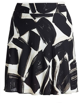 Nic+Zoe, Plus Size Nightfall Graphic Print A-Line Skirt
