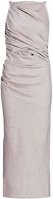 Jacquemus Tendino Linen-Blend Draped Midi Dress