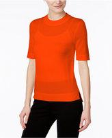 DKNY Sheer Wool-Blend Sweater