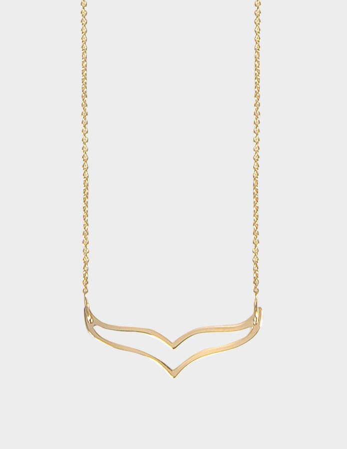 ginette_ny Mini Wise 18-karat rose gold necklace