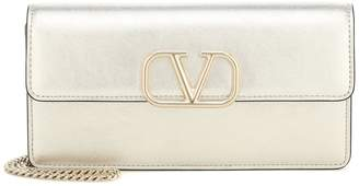 Valentino Garavani VLOGO Small leather clutch