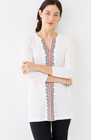J. Jill Embroidered Cotton & Modal Knit Tunic