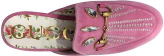 Gucci Brixton Pink Velvet Flats
