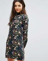 Greylin Breann Floral Tie Neck Dress