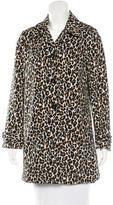 3.1 Phillip Lim Leopard Print Knee-Length Coat
