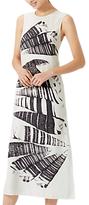 Jigsaw Cerith Stripe Silk Midi Dress, White