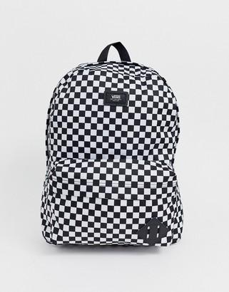 Vans Old Skool III backpack in black/white checkerboard