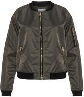 Zizzi Plus Size Zip detail bomber jacket