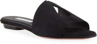 Aquazzura Sexy Thing Suede Slide Sandals