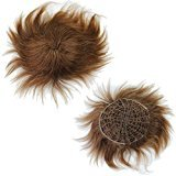 Rossy&Nancy Real human Hair Straight Toupee for Man with Hand PU Reforced Blonde Color