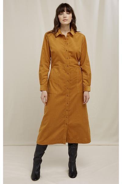 People Tree Aina Corduroy Shirt Dress - 109 / 16