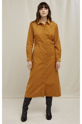 People Tree Aina Corduroy Shirt Dress - 109 / 8