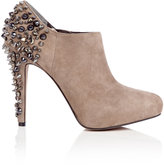 Putty Renzo Suede Ankle Boot Stud Heel