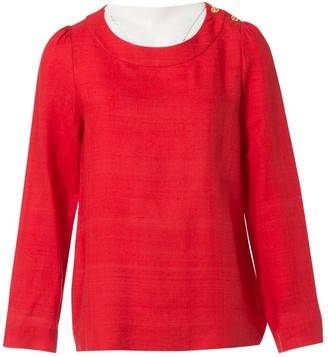 Chloé Red Linen Tops