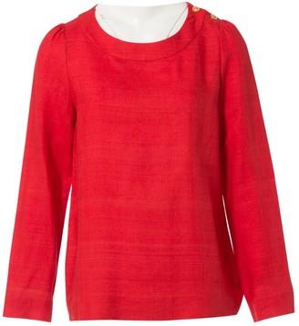 Chloé Red Linen Top for Women