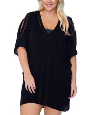 Thumbnail for your product : Raisins Curve Trendy Plus Size Tranquilo Caftan Cover-Up Women's Swimsuit