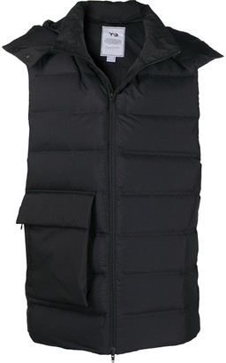 Y-3 Feather-Down Quilted Hood Gilet