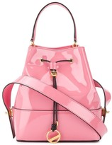 Emilio Pucci Pink Patent Leather Bonita Bucket Bag