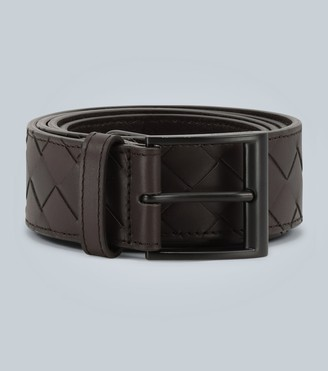 Bottega Veneta Wide intrecciato leather belt