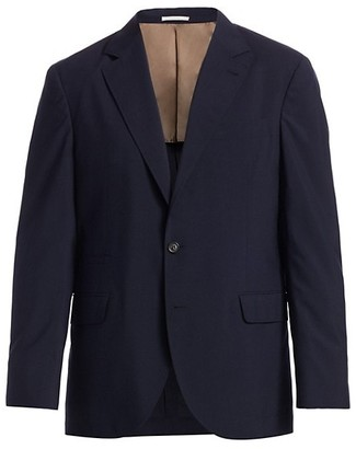 Brunello Cucinelli Wool & Silk Travel Blazer