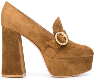 Gianvito Rossi Ricca buckle detail pumps