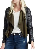 French Connection Women's Filomena Faux Leather Jacket