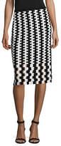 Diane Von Furstenberg Merino Wool Pencil Skirt
