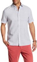 Toscano Short Sleeve Print Regular Print Woven Shirt