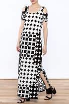 Libra Bold Print Maxi Dress