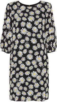 Moschino Black Daisy-print Mini Dress