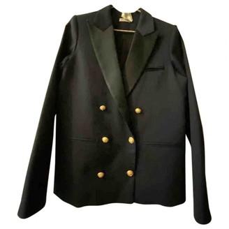Masscob Navy Cotton Jacket for Women