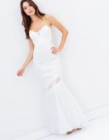 Lipsy Lace Bandeau Fishtail Bridal Dress