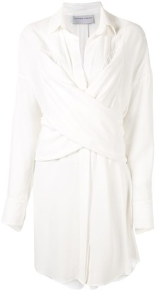 Strateas Carlucci Front-Twist Shirt Dress