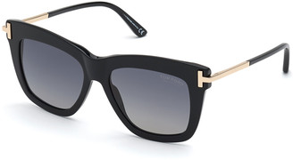 Tom Ford Dasha Oversized Square Acetate Sunglasses, Black