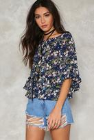 Nasty Gal nastygal A Forest Ruffle Top