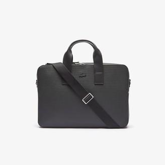Lacoste Men's Chantaco Matte Pique Leather Computer Bag