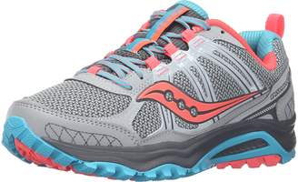 Saucony Women's Grid Excursion Tr10 Trail running Shoe Grey/Blue/Combo 5 M US