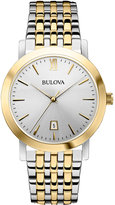Bulova Unisex Two-Tone Stainless Steel Bracelet Watch 38mm 98B221