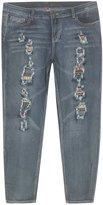 Revolt Plus Size Ripped Ready Jeans -Size: Color: