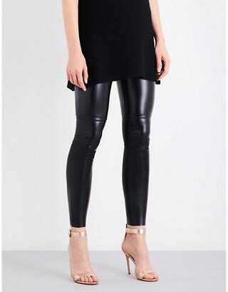 Wolford Women's Black Estella Leatherette Leggings, Size: 6