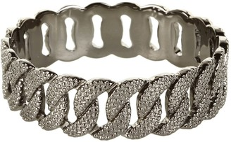 Marc by Marc Jacobs Marc Jacobs MBMJ Hematite Lizard Embossed Katie Bangle Bracelet NWT