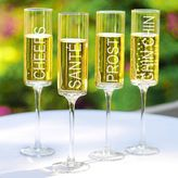 Cathy's Concepts Cathys concepts 4-pc. Cheers! Contemporary Champagne Flute Set