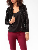 Forever 21 Sequined Bomber Jacket