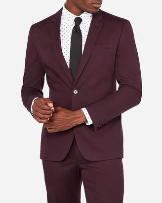 Express Extra Slim Merlot Cotton Sateen Stretch Suit Jacket