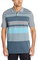 Arrow Men's Short Sleeve Engineered Multi Stripe Oxford Polo
