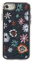 Rebecca Minkoff Luxe Double Up Embroidered Iphone 7 Case - Black