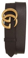 Gucci Men's Marmont Logo Leather Belt